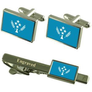 【送料無料】メンズアクセサリ― フラグカフスボタンタイクリップマッチングボックスkusiae kosrae flag cufflinks engraved tie clip matching box set