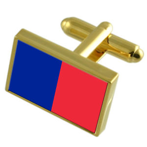 【送料無料】メンズアクセサリ― パリフランスゴールドフラッグカフスボタンボックスparis city france gold flag cufflinks engraved box