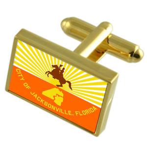 【送料無料】メンズアクセサリ― ジャクソンビルアメリカゴールドフラッグカフスボタンボックス