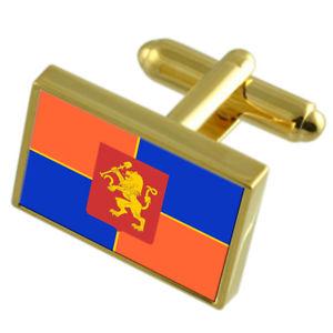 【送料無料】メンズアクセサリ― クラスノヤルスクロシアゴールドフラッグカフスボタンボックスkrasnoyarsk city russia gold flag cufflinks engraved box