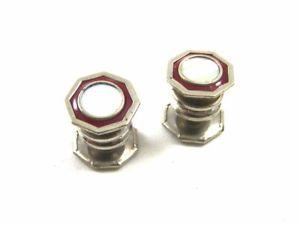 【送料無料】メンズアクセサリ― cobs link 101314アールデコsilvertoneパールカフスリンクart deco silvertone red mother pearl cufflinks by cobs link 101314
