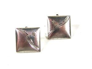 【送料無料】メンズアクセサリ― ビンテージスターリングシルバースターカフリンクスノーブランドvintage sterling silver star cufflinks unbranded 51916