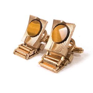 【送料無料】メンズアクセサリ― ビンテージダンテゴールドメンズカフスボタンvintage dante gold toned mens fold over cufflinks 80