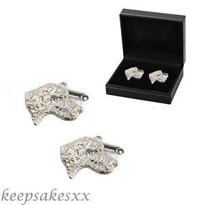 【送料無料】メンズアクセサリ― cufflinksスターリングwelsh springer spanieldog925ユニークcufflinks sterling silver welsh springer spaniel pup dog 925 uk unique desi