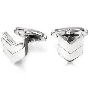 【送料無料】メンズアクセサリ― フレッドベネットステンレススチールシェブロンメンズカフスボタンfred bennett stainless steel chevron mens cufflinks v528
