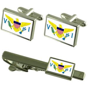 【送料無料】メンズアクセサリ― バージンカフスボタンタイクリップマッチングボックスセットvirgin islands flag cufflinks tie clip matching box gift set