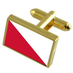 【送料無料】メンズアクセサリ― ユトレヒトオランダゴールドフラッグカフスボタンボックスutrecht city netherlands gold flag cufflinks engraved box