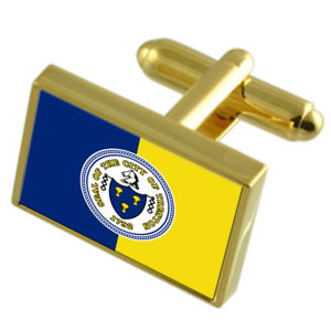 【送料無料】メンズアクセサリ― トレントンアメリカゴールドフラッグカフスボタンボックスtrenton city usa gold flag cufflinks engraved box