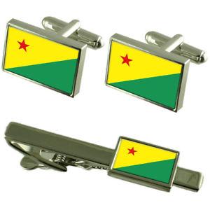 【送料無料】メンズアクセサリ― エーカーフラグカフスリンクネクタイピンセットacre flag cufflinks tie clip matching box gift set