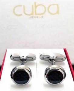 【送料無料】メンズアクセサリ― メンズシャツカフスボタンカーボンファイバーmens shirt cufflinks wrist marriage ceremony steel with carbon fiber