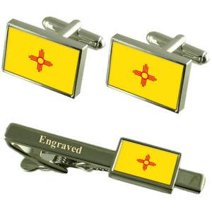 【送料無料】メンズアクセサリ― メキシコカフスボタンタイクリップマッチングボックス mexico flag cufflinks engraved tie clip matching box set