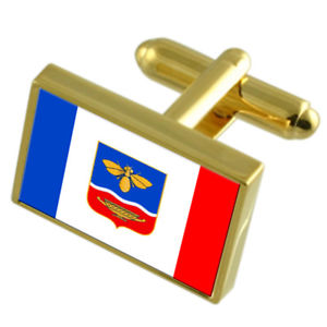【送料無料】メンズアクセサリ― シンフェローポリウクライナゴールドフラッグカフスボタンボックスsimferopol city ukraine gold flag cufflinks engraved box