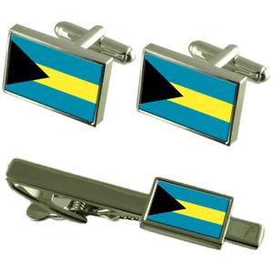 【送料無料】メンズアクセサリ― バハマカフスボタンタイクリップマッチングボックスセットthe bahamas flag cufflinks tie clip matching box gift set