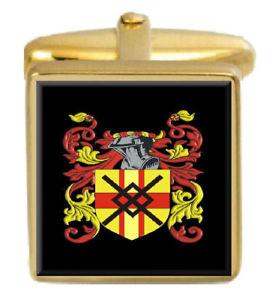 【送料無料】メンズアクセサリ― スコットランドカフスボタンボックスファミリークレストコートmacnaughton scotland family crest coat of arms gold cufflinks engraved box