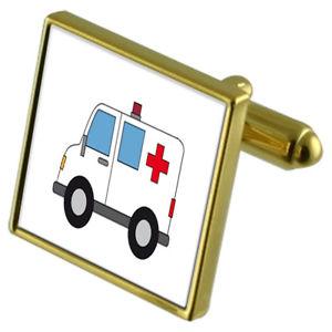 【送料無料】メンズアクセサリ― カフスボタンクリスタルタイクリップセットambulance medic goldtone cufflinks crystal tie clip gift set