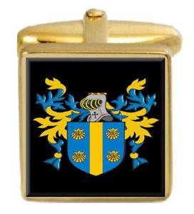 【送料無料】メンズアクセサリ― アイルランドカフスボタンボックスコートmacdowell ireland family crest surname coat of arms gold cufflinks engraved box