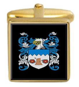 【送料無料】メンズアクセサリ― イングランドカフスボタンボックスコートklee england family crest surname coat of arms gold cufflinks engraved box