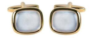 【送料無料】メンズアクセサリ― クッションゴールドプレートmother of pearl large cushion stone gold plate cufflink
