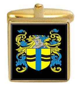 【送料無料】メンズアクセサリ― イギリスカフスボタンボックスファミリークレストコートvandersluys england family crest coat of arms gold cufflinks engraved box