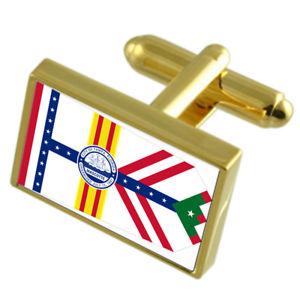 Springfield City United States Gold-tone Flag Cufflinks
