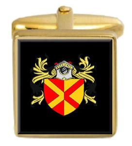 【送料無料】メンズアクセサリ― ドライバーイングランドカフスボタンボックスコートdriver england family crest surname coat of arms gold cufflinks engraved box