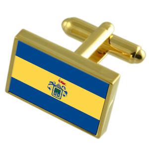 【大注目】 【送料無料】メンズアクセサリ― グアダラハラメキシコシティーゴールドフラッグカフスボタンボックスguadalajara city mexico gold flag cufflinks engraved box, 鍵の森の館 5329a996