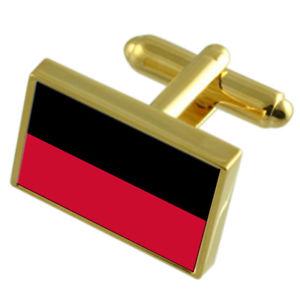 【送料無料】メンズアクセサリ― ナイメーヘンオランダゴールドフラッグカフスボタンボックスnijmegen city netherlands gold flag cufflinks engraved box