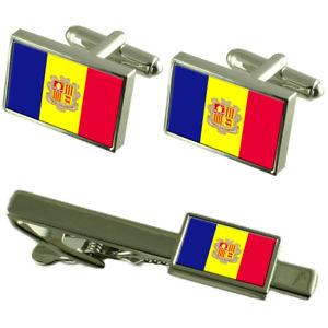 【送料無料】メンズアクセサリ― アンドラカフスボタンタイクリップマッチングボックスセットandorra flag cufflinks tie clip matching box gift set