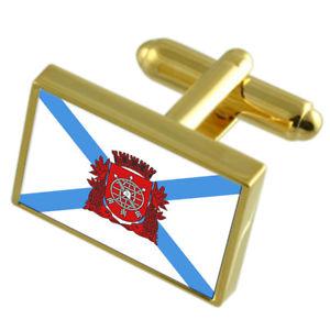 【送料無料】メンズアクセサリ― リオデジャネイロブラジルフラグカフスリンクrio de janeiro city brazil gold flag cufflinks engraved box