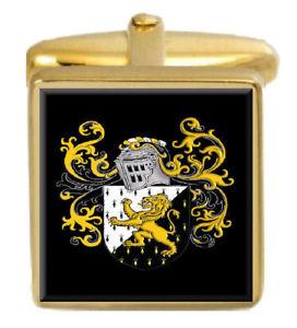 【送料無料】メンズアクセサリ― エドワーズウェールズカフスボタンボックスコートedwards wales family crest surname coat of arms gold cufflinks engraved box