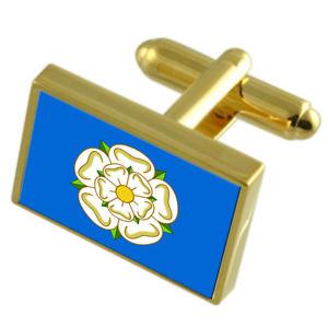 【送料無料】メンズアクセサリ― ヨークシャーフラグカフスリンクyorkshire county england gold flag cufflinks engraved box