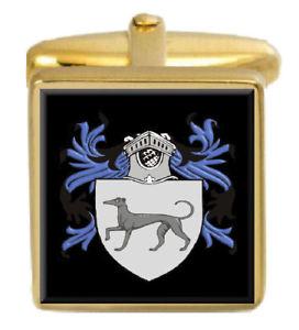 【送料無料】メンズアクセサリ― イングランドカフスボタンボックスコートholford england family crest surname coat of arms gold cufflinks engraved box