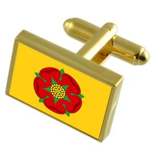 【送料無料】メンズアクセサリ― ランカシャーフラグカフスリンクlancashire county england gold flag cufflinks engraved box