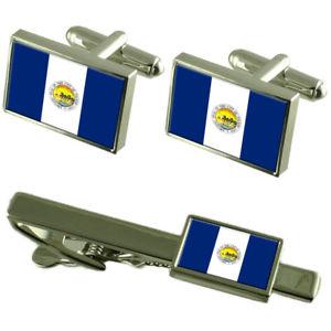 【送料無料】メンズアクセサリ― トレドカフスボタンタイクリップボックスセットtoledo city united states flag cufflinks tie clip box gift set