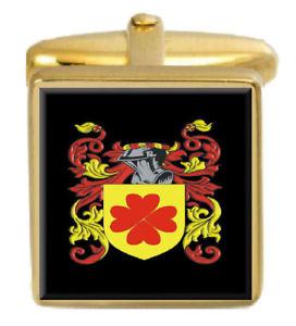 【送料無料】メンズアクセサリ― イギリスカフスボタンボックスコートalbuery england family crest surname coat of arms gold cufflinks engraved box