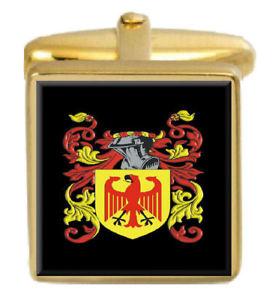 【送料無料】メンズアクセサリ― イギリスカフスボタンボックスコートkeatley england family crest surname coat of arms gold cufflinks engraved box