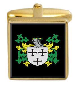【送料無料】メンズアクセサリ― イングランドカフスボタンボックスコートgoodier england family crest surname coat of arms gold cufflinks engraved box