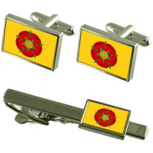 【送料無料】メンズアクセサリ― ランカシャーカフスボタンタイクリップボックスセットlancashire county england flag cufflinks tie clip box gift set