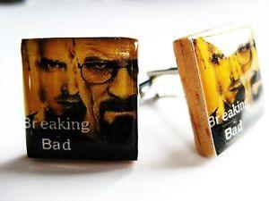 【送料無料】メンズアクセサリ― カフリンクスハンドメイドカフリンクスbreaking bad cufflinks handmade cufflinks unique gift for men