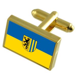 【送料無料】メンズアクセサリ― ライプチヒドイツフラグカフスリンクleipzig city germany gold flag cufflinks engraved box