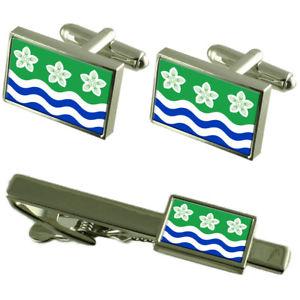 【送料無料】メンズアクセサリ― カンバーランドカフスボタンタイクリップボックスセットcumberland county england flag cufflinks tie clip box gift set