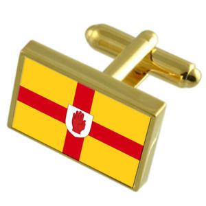 【送料無料】メンズアクセサリ― アルスターフラグカフスリンクulster county england gold flag cufflinks engraved box