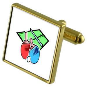 【送料無料】メンズアクセサリ― テーブルテニススポーツカフスボタンクリスタルタイクリップセットtable tennis sport goldtone cufflinks crystal tie clip gift set