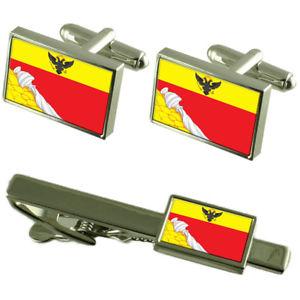 【送料無料】メンズアクセサリ― ボローネジロシアカフスボタンタイクリップボックスセットvoronezh city russia flag cufflinks tie clip box gift set