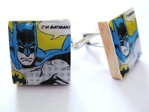 【送料無料】メンズアクセサリ― バットマンカフスボタンビンテージハンドメイドbatman cufflinks vintage cartoon movie batmancufflinks handmade unique gift