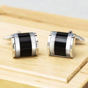 【送料無料】メンズアクセサリ― トップドロワーオニキスカフリンクスtop drawer onyx cufflinks