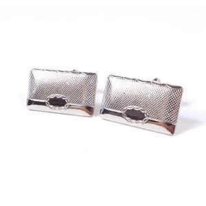 【送料無料】メンズアクセサリ― レトロビンテージメンズメタルカフスボタンretro vintage mens rectangular metal cufflinks 50