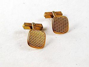【送料無料】メンズアクセサリ― カフリンクスドイツビンテージvintage rolled gold cufflinks germany 102616