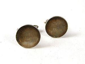 【送料無料】メンズアクセサリ― ビンテージスターリングシルバーカフスボタンvintage sterling silver cufflinks by correct 91016