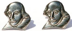 【送料無料】メンズアクセサリ― ウィリアムシェイクスピアピューターカフスボタンボックスwilliam shakespeare pewter cufflinks gift boxed pouched quantity discount